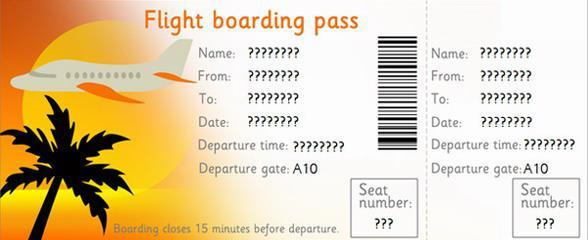 Авиабилет без указания точных дат.